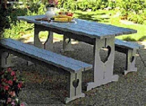 Cherry Tree Toys Picnic Table And Benches Plan