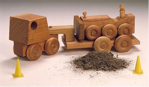 Cherry Tree Toys Bulldozer Carrier Plan