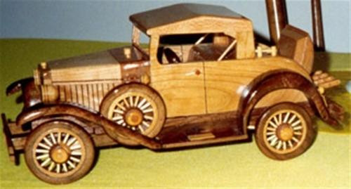 Cherry Tree Toys  created the Antique Model A Roadster Woodworking Plan for you to build.