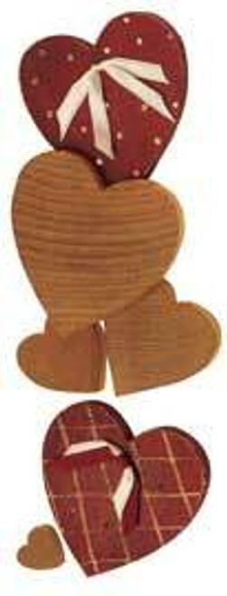 Cherry Tree Toys 3/4 x 1/4 Hearts