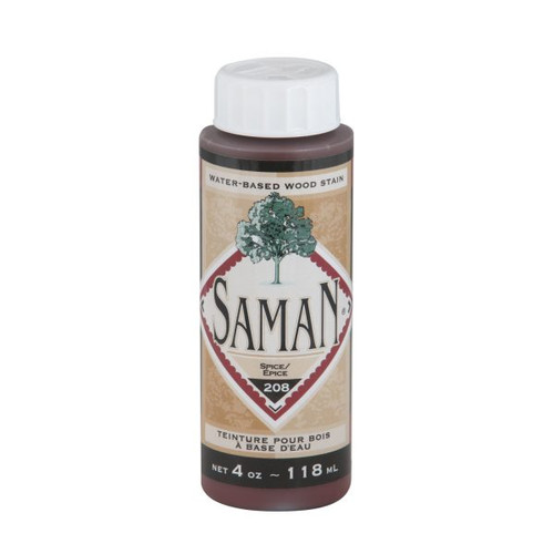 A bottle of the Saman spice stain.
