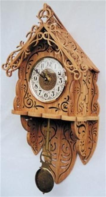 Wildwood Designs Autumn Breeze Scroll Saw Clock Pattern