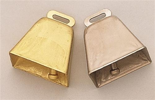 Cherry Tree Toys 1 3/4and#34; Silver Cow Bell