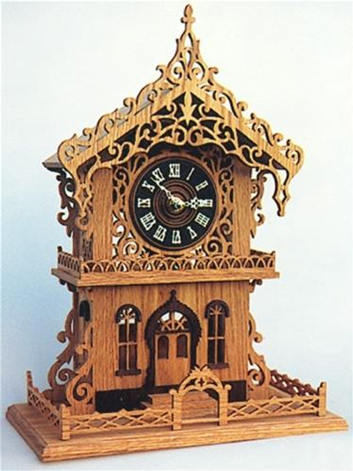 Wildwood Designs Cottage Clock Scroll Saw Plan