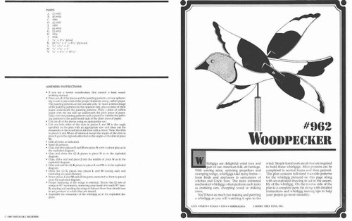 Cherry Tree Toys Wood Pecker Whirligig Plan