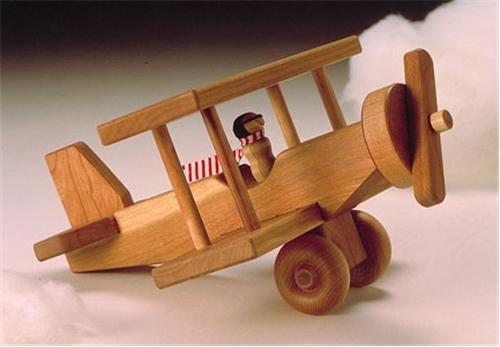 Cherry Tree Toys Biplane Ready to Assemble Kit