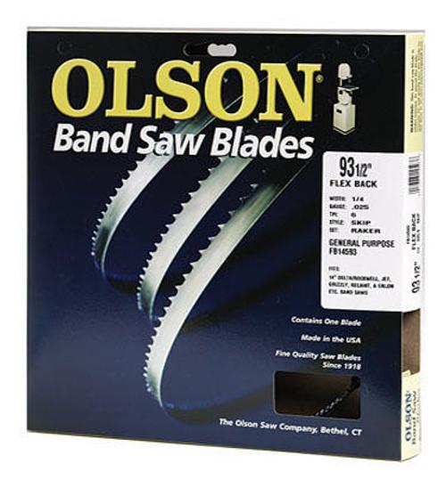 Olson Flex Back Band Saw Blade 105 x 1/2 Hook 3 tpi