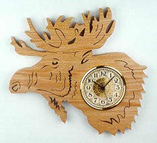 Wildwood Designs Hanging Moose Scroll Saw Clock Pattern