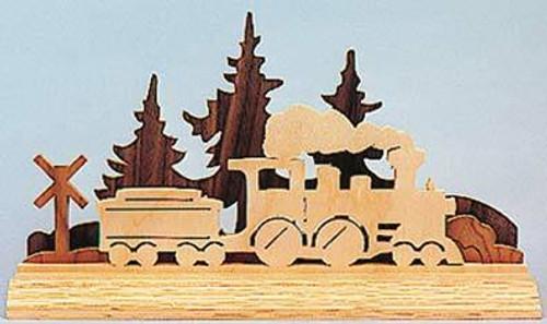 Wildwood Designs Dimensional Train Scroll Saw Pattern