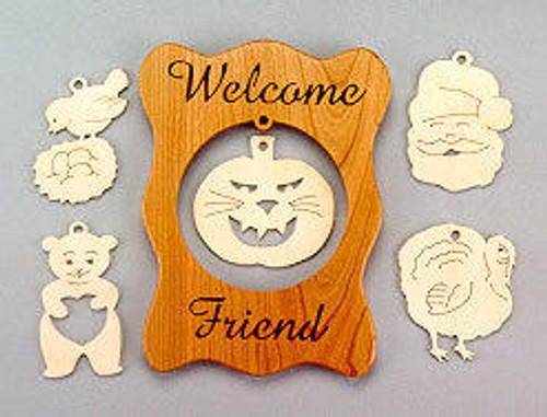 Wildwood Designs Seasonal Greetings Sign Scroll Saw Pattern
