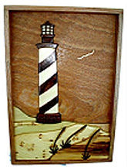 Framed Lighthouse Intarsia Plan