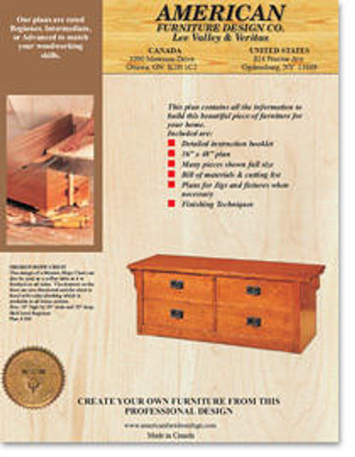 American Furniture Mission Hope Chest Plan