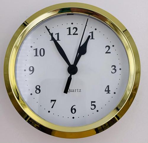 4 White Arabic Clock Insert