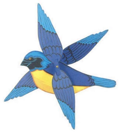 Cherry Tree Toys Blue Hooded Tanager Whirligig DIY Kit