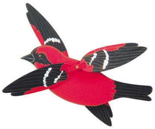 Cherry Tree Toys White Winged Tanager Whirligig DIY Kit