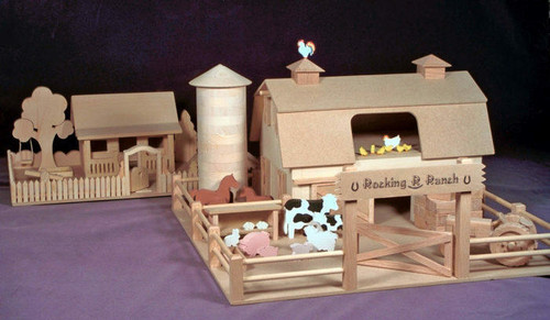Western Farm and Ranch House Model Woodworking Plan