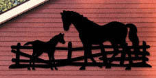 Winfield Collection Horse and Colt Yard Shadow Woodworking Plan