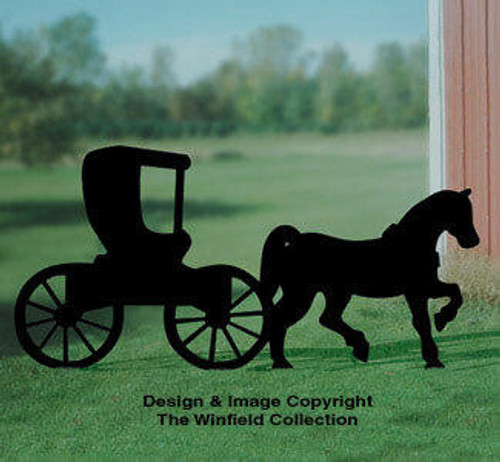 Winfield Collection Horse and Buggy Yard Shadow Woodworking Plan