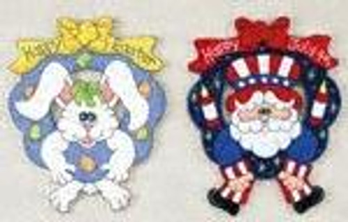 Easter and 4th of July Wreaths Woodworking Plan