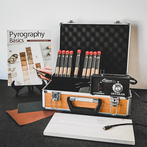 Take up the creative craft of woodburning with the Colwood Detailer Deluxe Woodburning Kit Fixed Tip.