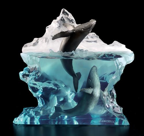 """Starlite Originals """"Surfacing"""" Humpback Whales Sculpture"""