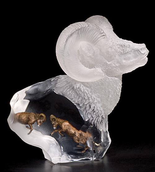 """""""Mountain Spirit"""" Ram Sculpture  by Starlite Originals"""