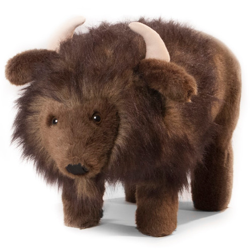 """Billy Buffalo"" Plush Friendly Footstool"