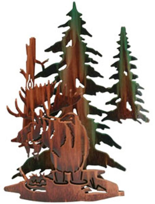 Moose Sculptures: Lazart 3D Moose Haven