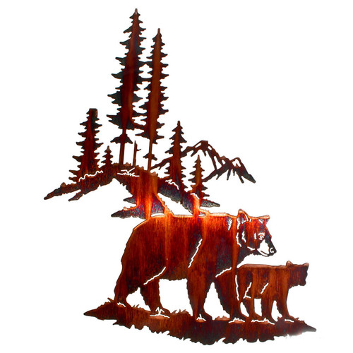 """Huckleberry Search"" Bear Metal Wall Art by Lazart"