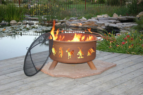"Patina ""Kokopelli"" Outdoor Fire Pit"