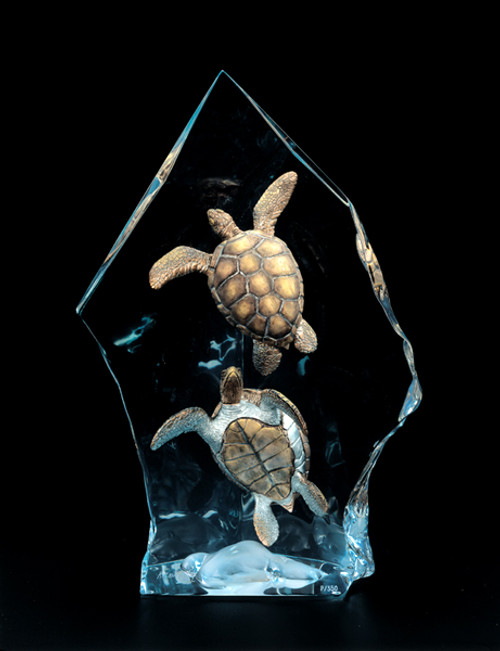 """Intrepid Spirit"" Turtle Sculpture by Kitty Cantrell"
