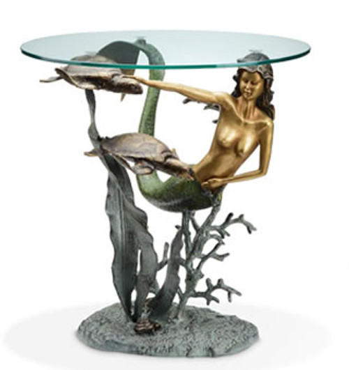 Mermaid and Sea Turtles End Table | 33708