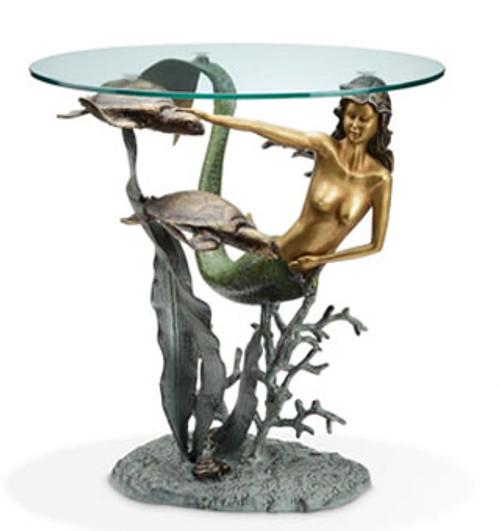 Mermaid and Sea Turtles End Table | 33708