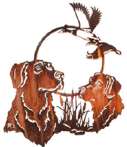"Lazart ""Hunting Pals Dog"" Metal Wall Art"