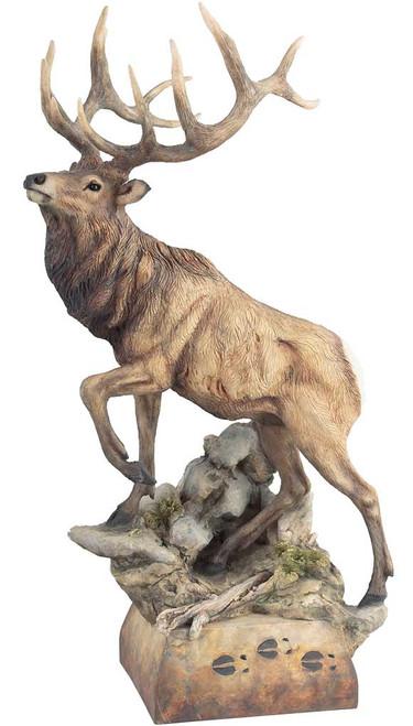 Hoofin It Elk Sculpture by Danny Edwards