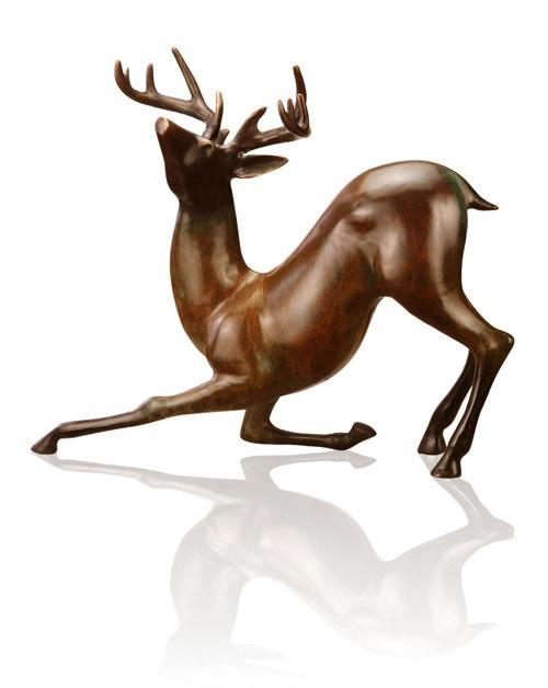 Contemporary Deer Sculpture by SPI