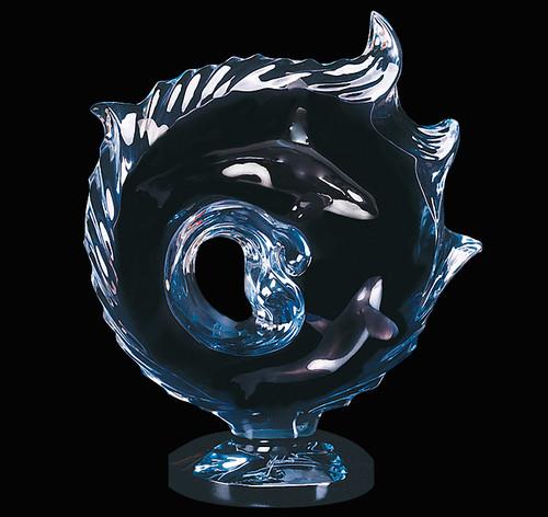 """Orcas Encompassed"" Orca Sculpture by Dan Medina"