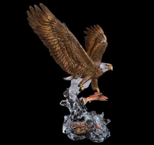 "Starlite Originals ""Clear Waters"" Eagle Sculpture"