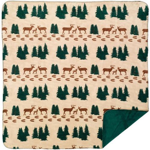 Deer Denali Microplush Throw