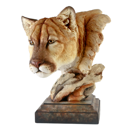 Canyon Watch Cougar Sculpture by Stephen Herrero