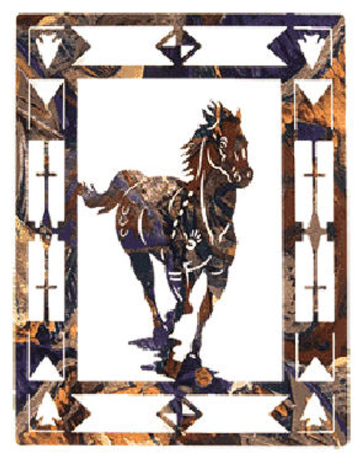 """Escape"" Horse Metal Wall Art"