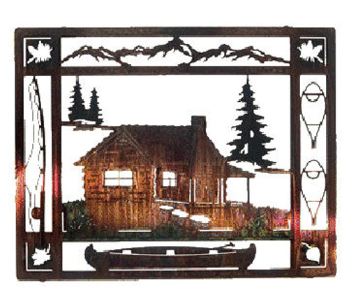 """At the Cabin"" Metal Wall Art"