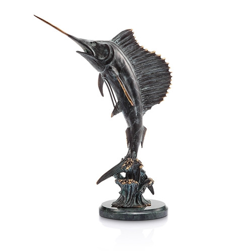 """Tail Walker""  Sailfish Sculpture by San Pacific"