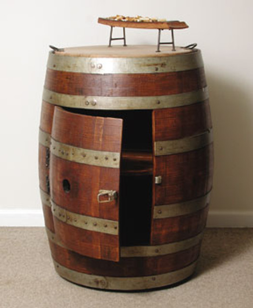 Wine Barrel Cabinet On Casters