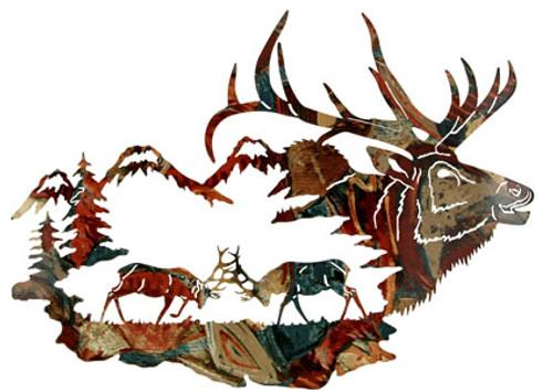 Wilderness Elk Metal Wall Art