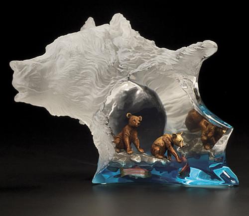 "Starlite Originals ""Mother's Pride"" Bear Sculpture"