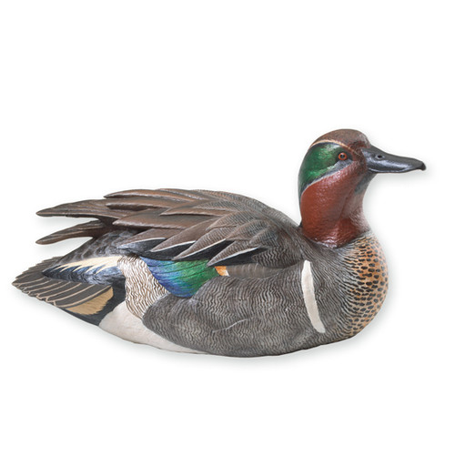 Miniature Green-Winged Teal Sculpture