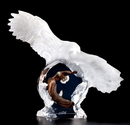 """""""Eagle Spirit"""" Sculpture by Christopher Pardell"""