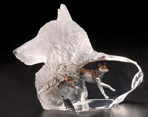 """""""Wild Spirit"""" Wolf Sculpture"""