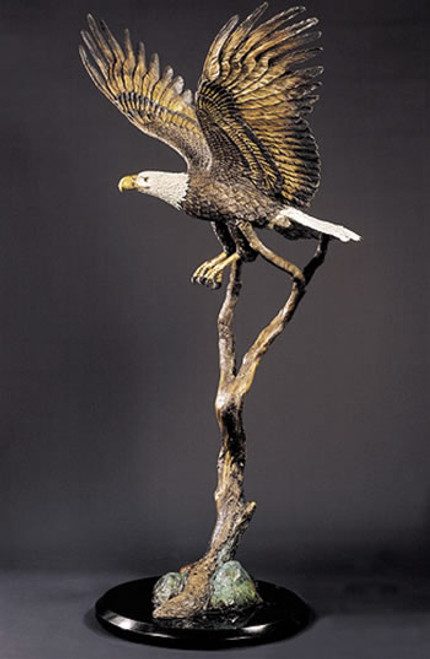 "Starlite Originals ""Free Spirit"" Eagle Sculpture by Kitty Cantrell"